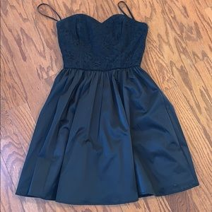 HM black strapless cocktail dress